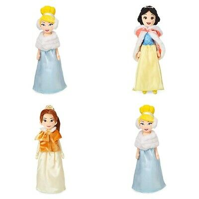 "Disney Store Snow White Cinderella Belle 19"" Plush Soft Doll Winter Cape Holiday"