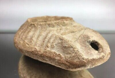 Ancient Byzantine / Roman / Egypt Pottery Terra Cotta Oil Lamp Artifact