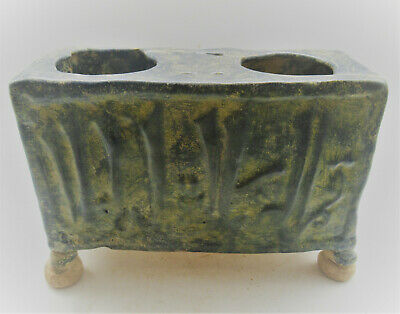 Ancient Islamic Seljuk Glazed Terracotta Vessel Circa 1200-1300Ad