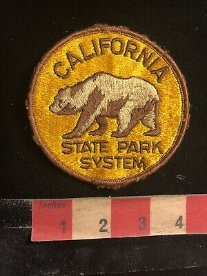 Vtg Brown Bear Grizzly California State Park System Patch O980