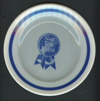 "Vintage Mcnicol China Pabst Blue Ribbon 7 1/4"" Plate Peoria Heights 5 Available"