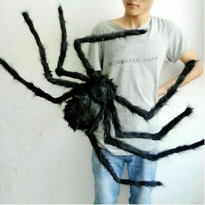 150CM Hairy Giant Spider Decoration Halloween Prop Haunted House Party Decor New