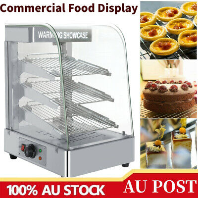 1.3KW Commercial Food Warmer Pie Pizza Hot Display Showcase Stainless Steel AU