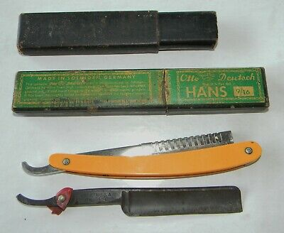 Mixed Lot of Vintage Case and Weck & Son Straight Razor with Holders