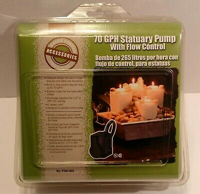 Little Giant 70 GPH Statuary Pump w Flow Control- No. PSM-002 New in Box