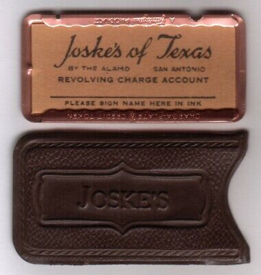 Joske's of Texas Revolving Charga-Plate Credit Token: Charge Plate & Carrier