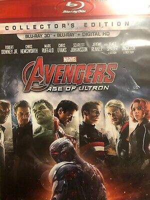 Avengers Age Of Ultron Blu-ray 3D, And 2D  No Digital Code Is Inc.