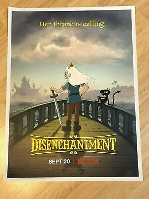 SDCC 2019 Comic Con EXCLUSIVE Disenchantment Poster From Matt Groening Netflix