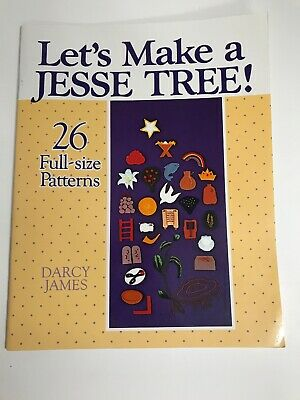 Jesse Tree Catholic Advent embroidery PATTERN Christmas book crafts ornaments