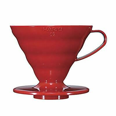 HARIO VD-02R Coffee Dripper Plastic Size 2 Red 1-4 Cups Free Shipping from Japan