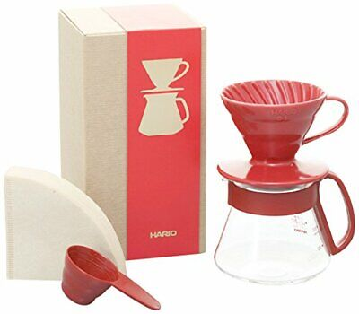 HARIO VDS-3012R Coffee Dripper Server Scoop Filters Set Red F/S from Japan