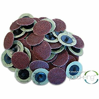 50 PC 2 Inch Roloc Discs 24 (Coarse) Grit Type Sanding Abrasives Industrial ""