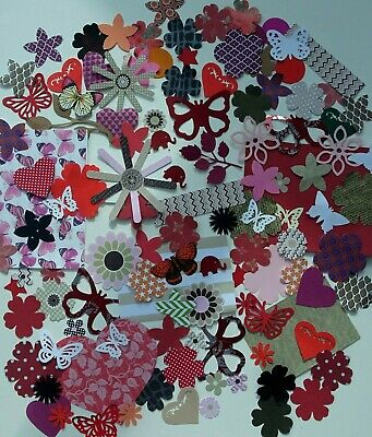 Craft packs  100++ pieces, Red/Brown Decorations,Papers,Embellishments. VALUE!