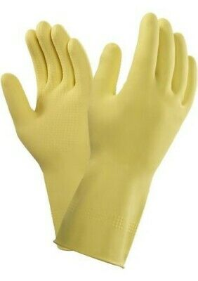 Ansell Marigold 87-063 (G04Y) Thick Heavy Duty Yellow Latex Rubber Gloves