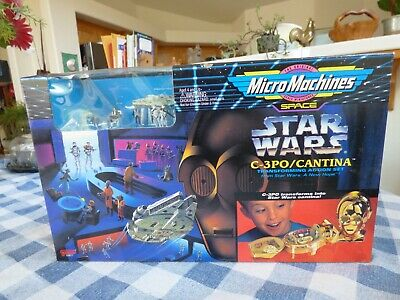 Micro Machines Star Wars  C-3PO Cantina Transforming Action Set 1994 Offers OK