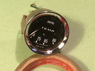 Car temperature gauge with chrome surround Smiths TC4308/00 Classic dashboard 2""