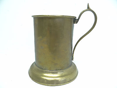 Large Brass Metal Chinese China Old Drinking Stein Mug with Handle Kitchen Cup