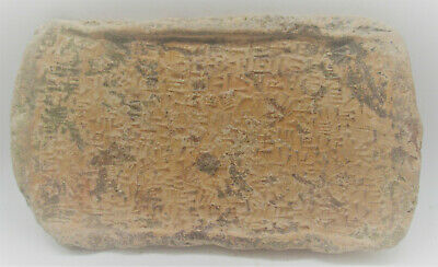 Large & Impressive Ancient Near Eastern Clay Tablet With Early Form Of Writing