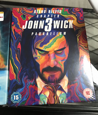 John Wick Parabellum Zavvi Exclusive 4K UHD Steelbook + Coin and Slipcase