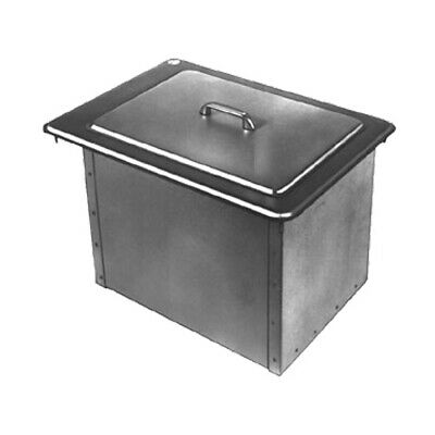 "Delfield 305 22"" Drop-In Design Ice Bin/Chest With Cover, 45lb Capacity"