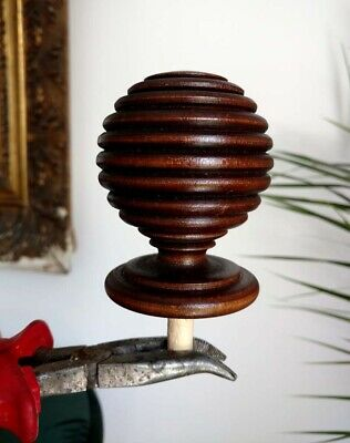 Wooden Big Finials,Turned To The Antique  Clock    5