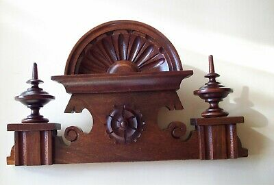 CROWN WOODEN TO THE CLOCK  LENZKIRCH REGULATOR BECKER 10.43 in