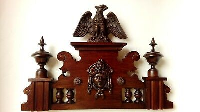 CROWN WOODEN TO THE CLOCK GERMAN VIENNA LENZKIRCH REGULATOR BECKER No.60