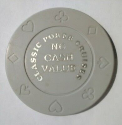 Classic Poker Cruises Casino Vintage Vault Gray No Cash Value Gaming Chip!