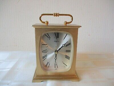 VINTAGE 1960s/70s SOLID BRASS JAPANESE RHYTHM CARRIAGE CLOCK   ( WORKING )