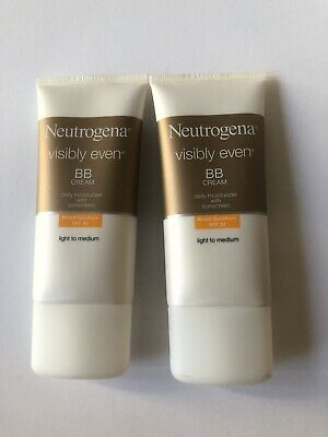 Lot Of 2 Neutrogena Visibly Even BB Cream Moisturizer Light to Medium Exp 2018