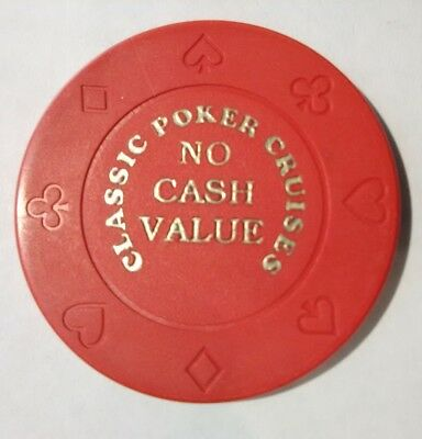 Classic Poker Cruises Casino Vintage Vault Red No Cash Value Gaming Chip!