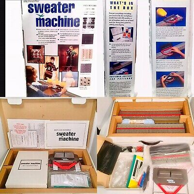 Bond Incredible Sweater Knitting Machine w/Extension Kit Afghan Unused Open Box