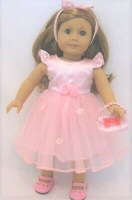 American Doll Pink Satin BALLET Dress Only OUTFIT Clothes 18 in Girl Doll Outfit