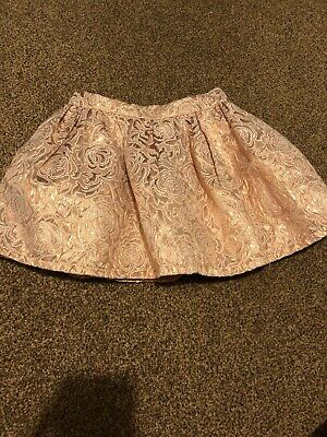Young Dimension rose gold floral metallic shiny skirt girls 2-3 years