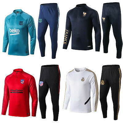 19-20 Adult Soccer Tracksuit Football Training Suit Sports Top& Bottoms Outfits