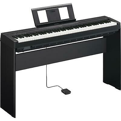 Yamaha P-45 88 Full Size Weighted Key Digital Piano + Stand + Sustain Pedal