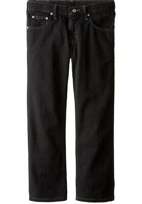 Lee Big Boys' Premium Select Straight Leg Jeans Double Black Boy's 16 Regular