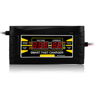 Full Automatic Car Battery Charger 110V/220V To 12V 6A 10A Smart Fast Power S0Z0