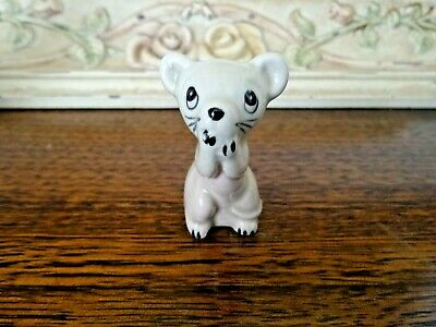 Bone China Japan 50s Miniature Mouse, Hand Painted, Very Cute Collectors Piece