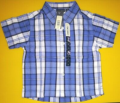 Cherokee Toddler Boy 3T Button Front Multi-Color Shirt_Short Sleeve_New with Tag
