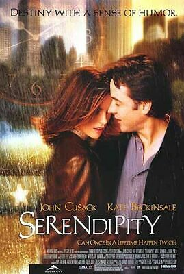 Serendipity Movie Poster 27 x 40 S/S John Cusack  Kate Beckinsale  Molly Shannon
