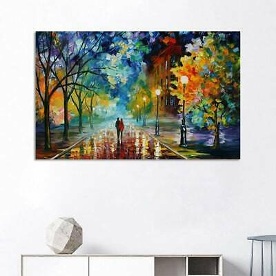 Romantic Night Stretched Canvas Prints Wall Art Home Decor Framed Painting Wzm