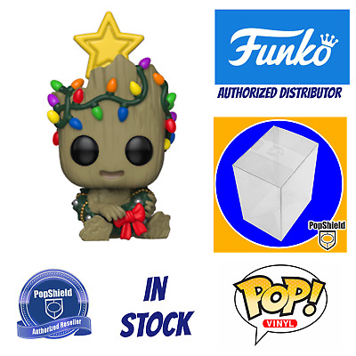 Funko  POP Marvel: Holiday - Groot w/ Box Protector In Stock