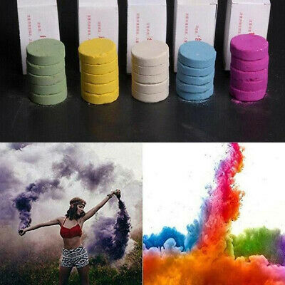 5Pcs Colorful Smoke Cake Show Prop Smoke Effect Round Bomb Stage Photography Toy