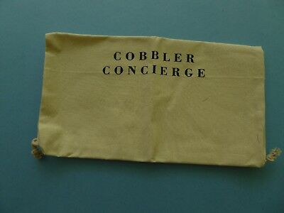 Cobbler Concierge Shoe Bag Logo Shoe Care Repair 100% Cotton
