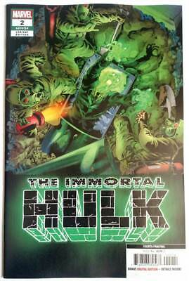 The Immortal Hulk #2 NM 1st App of Dr Frye Marvel Comics Key Issue 2018
