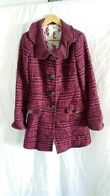 Allanah Hill pink/black why should I Coat size 10 made in Australia