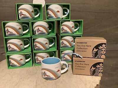 Starbucks You Are Here Collection Ornament Hawaii MINI Mug 2 oz NEW NIB