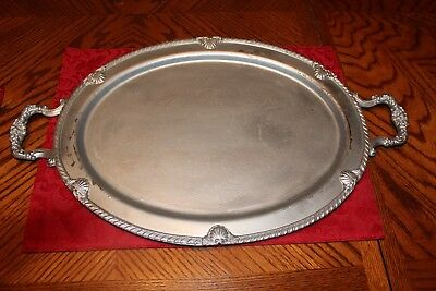 FB Rogers Silver Co.Serving Tray Vintage 1883 Gorgeous!  Very Heavy! #6729