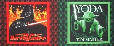 Star Wars Yoda Jedi Master Darth Vader Pillow Panels Set Of 2 on Cotton Fabric